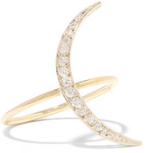 Andrea Fohrman Sliver Crescent Moon 18-karat Gold Diamond Ring - 6