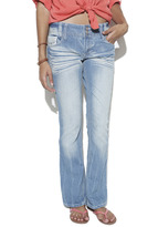 Wet Seal Double Button Slim Boot Jean