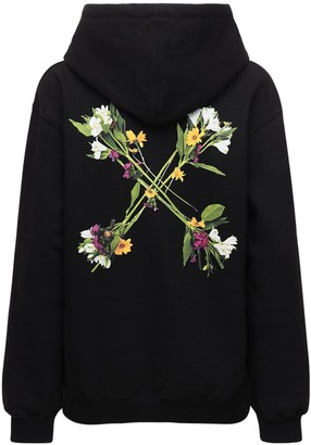 Off-White Flocked Floral Arrows Sweatshirt Hoodie