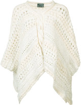 Maiyet loose knit poncho - women - Cotton/Linen/Flax/Polyester - One Size