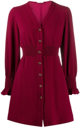 Sandro Lylie button front flared dress