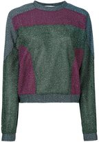 Carven lurex sweatshirt - women - Polyester - M