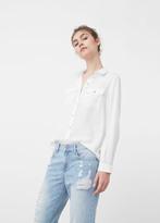 MANGO Pockets Flowy Shirt
