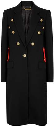 Givenchy Black button-embellished wool twill coat
