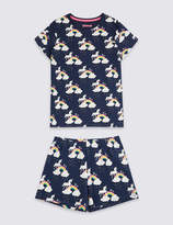Marks and Spencer Printed Pyjamas with Stretch (3-16 Years)