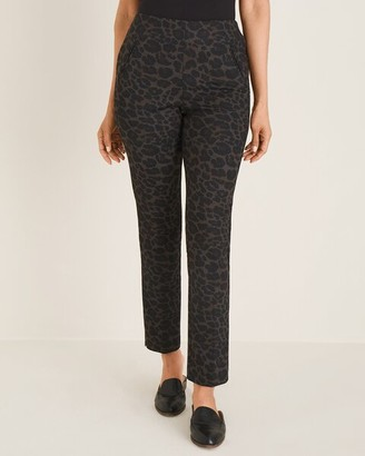 So Slimming Juliet Leopard-Print Ankle Pants