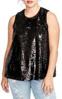 Rachel Roy Plus Size Women's Sequin Top
