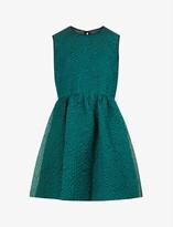 Thumbnail for your product : VVB Scoop-neck sleeveless silk-blend mini dress