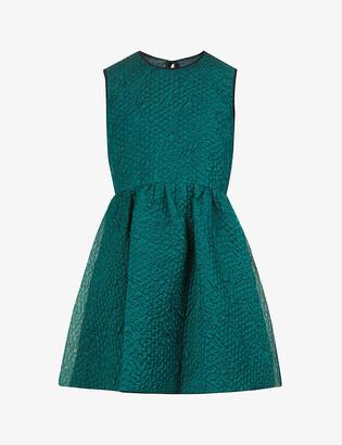 VVB Scoop-neck sleeveless silk-blend mini dress