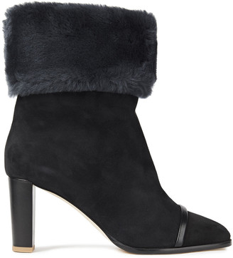 Malone Souliers Diane 70 Shearling Ankle Boots