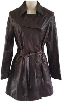 Cole Haan Brown Leather Coat for Women