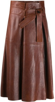 Chloé belted A-line skirt