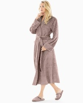 Soma Intimates Luxe Marble Long Robe Mochaccino With Java
