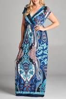 Emerald Print Maxi Dress