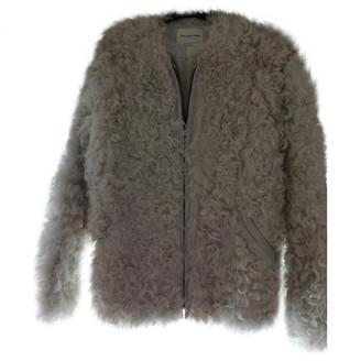 Etoile Isabel Marant White Mongolian Lamb Leather jackets