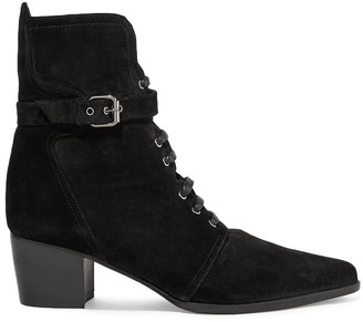 Tabitha Simmons Porter Buckled Suede Ankle Boots