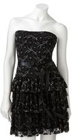 My Michelle Lily rose lace lurex tube dress - juniors
