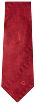 Chanel Vintage Red Silk Jacquard Tie