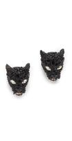 Alexis Bittar Crystal Encrusted Panther Earrings