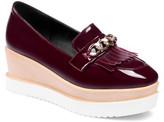 Butiti BUTITI Women's Loafers red - Red Chain-Detail Contrast Heel Platform Loaf - Women