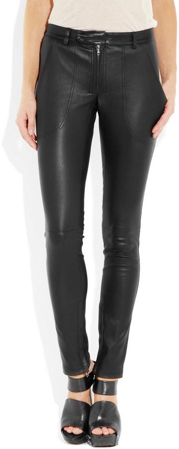 The Row Smashton leather leggings