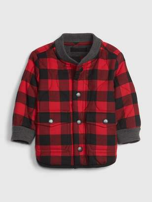 Gap Baby Plaid Quilted Bomber