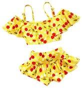 XUNYU Baby Girls 2 Pieces Cherry Bikini Set Tankinis Swimwear Swimsuit 2-9Years