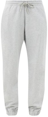 Wardrobe NYC Release 02 Drawstring-waist Cotton Track Pants - Light Grey