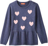 Joe Fresh Toddler Girls' Graphic Peplum Sweater, Dark Blue Mix (Size 3)