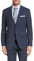 Theory Wellar Trim Fit Plaid Wool Sport Coat