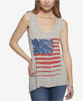 Jessica Simpson Open-Back Graphic Tank Top