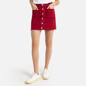 Pepe Jeans Buttoned Mini Skirt in Cotton Mix