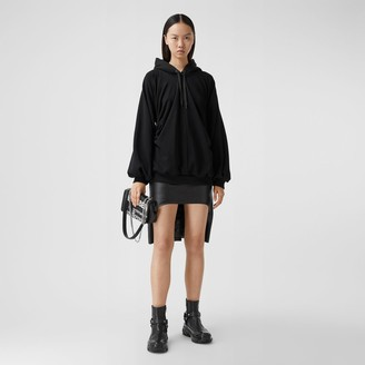 Burberry ocation Print Gathered Cotton Oversized Hoodie
