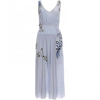 Suno Blue Silk Dresses