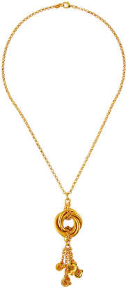 Jose & Maria Barrera Long Pendant Necklace with Knot & Tassel