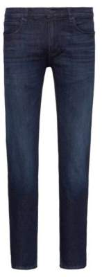HUGO Slim-fit jeans in dark-blue stretch denim