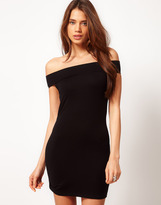ASOS Body-Conscious Dress with Off Shoulder