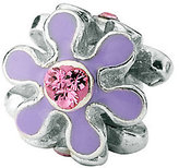 Swarovski Prerogatives Sterling Purple Flower w Crystal Bead