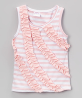 Tutus by Tutu AND Lulu Pink & White Stripe Ruffle Top - Infant & Kids