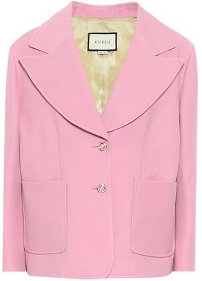 Gucci Silk and wool cady blazer