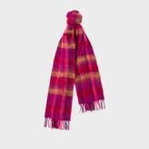 Paul Smith Women's Purple Check Wool Scarf