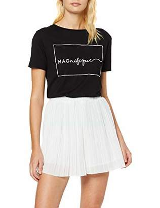 New Look Women's Go Pleated Shorts, White (White .0), (Size