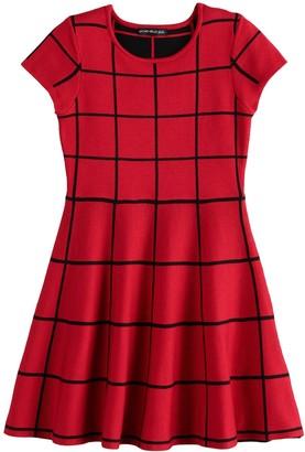 My Michelle Girls 7-16 Short Sleeve Sweater Dress