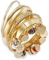 Thalia Sodi Faux-Snakeskin Pavé Disc Bangle Bracelet Set, Created for Macy's