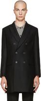 Ami Alexandre Mattiussi Black Wool Double-Breasted Coat