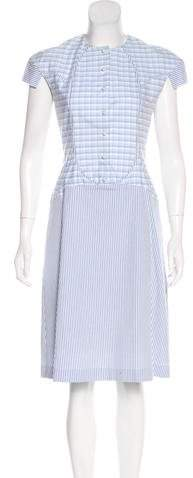 Thom Browne Striped Midi Dress