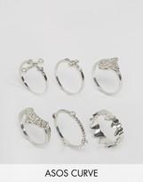 Asos Filigree Cross Ring Pack