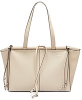 Loewe Cushion Small Grained-leather Tote - Womens - Grey