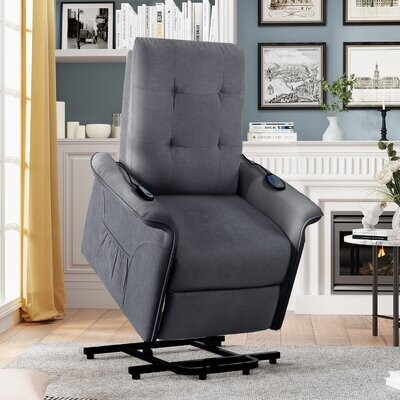 Thumbnail for your product : Red Barrel Studio Harneen 28'' Wide Power Lift Assist Standard Recliner with Massager