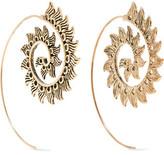 Kenneth Jay Lane Burnished Gold-Tone Earrings